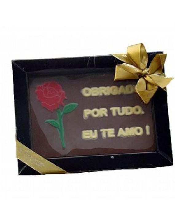BARRA DE CHOCOLATE OBRIGADA POR TUDO